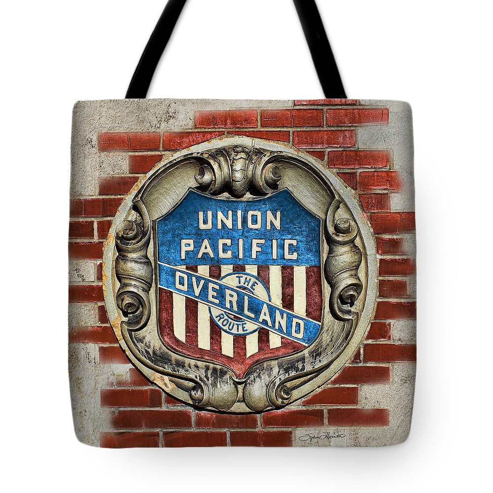 Depot Tote Bag featuring the photograph Union Pacific Crest by Sylvia Thornton