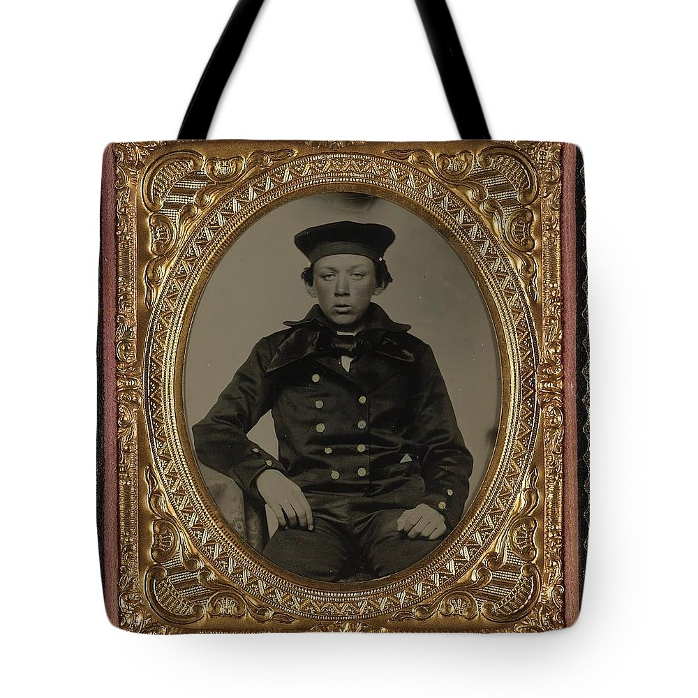 Young Tote Bag featuring the photograph Union Sailor by History Cases