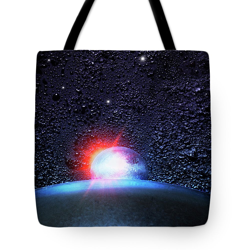 Black Color Tote Bag featuring the photograph Universe In The Kitchen by Hiroshi Watanabe