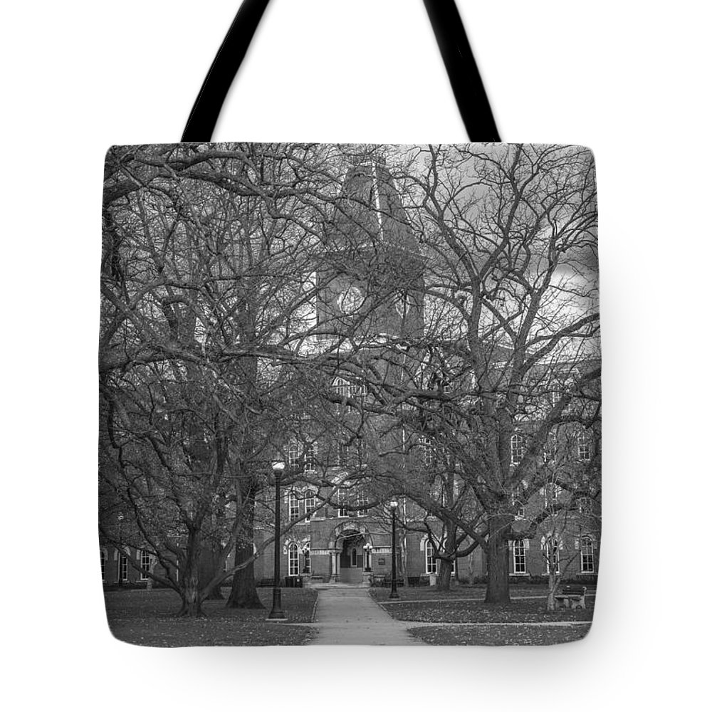 Ohio State University Tote Bag featuring the photograph University Hall And Pathway Osu by John McGraw