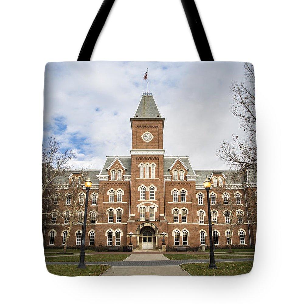Ohio State University Tote Bag featuring the photograph University Hall Ohio State University by John McGraw