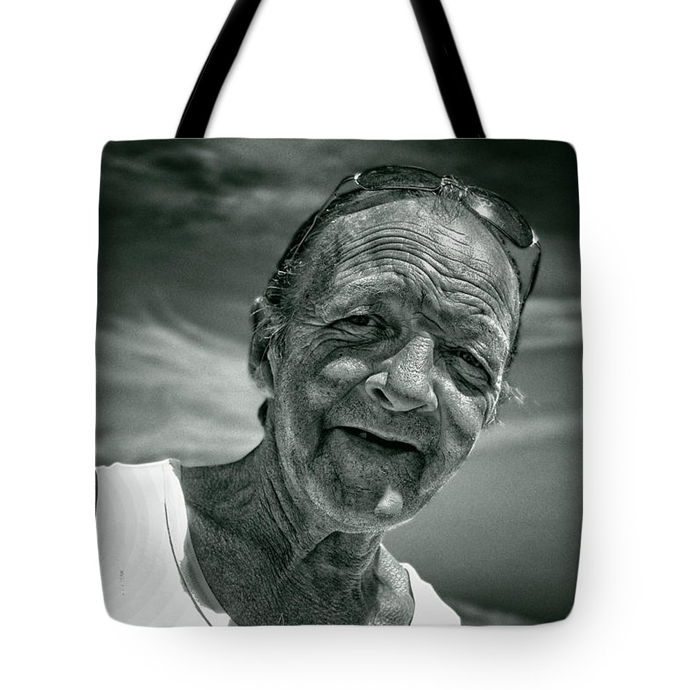 Portraits Tote Bag featuring the photograph Unknown Duotone by John Herzog