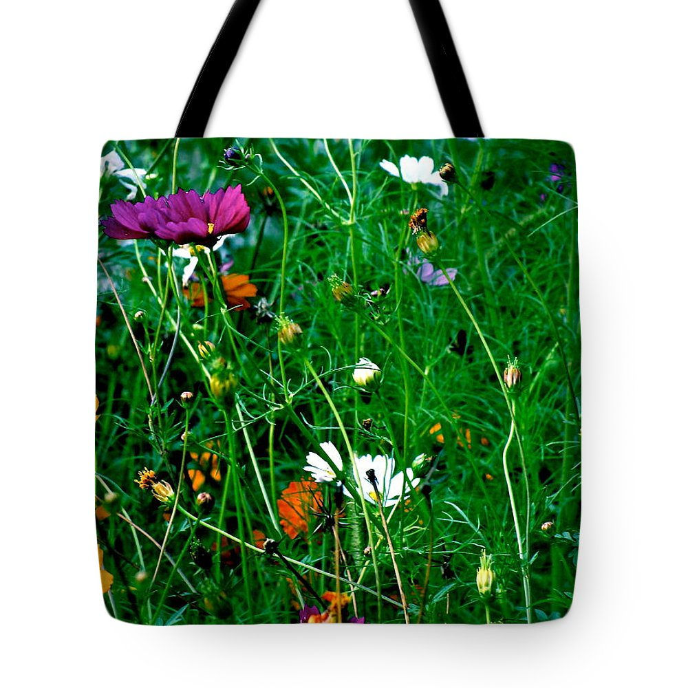 Wildflowers Tote Bag featuring the photograph Unseen Guests by Ira Shander