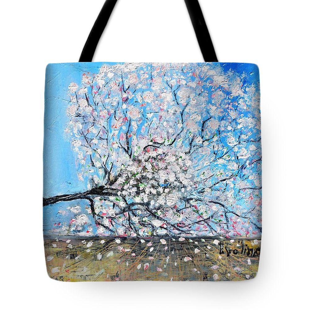 Landscape Tote Bag featuring the painting Unstable Position by Evelina Popilian