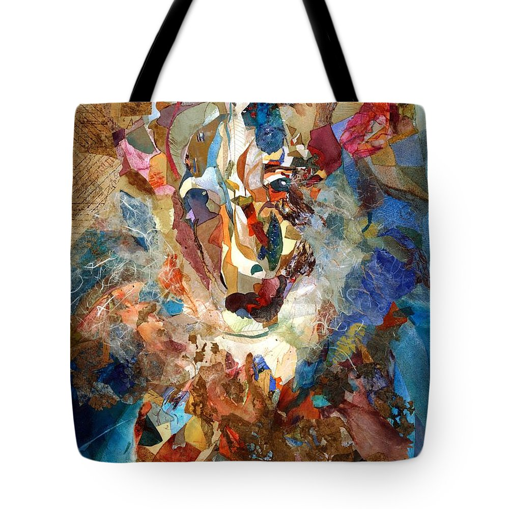 Abstract Tote Bag featuring the painting Unsullied by Rebecca Zdybel