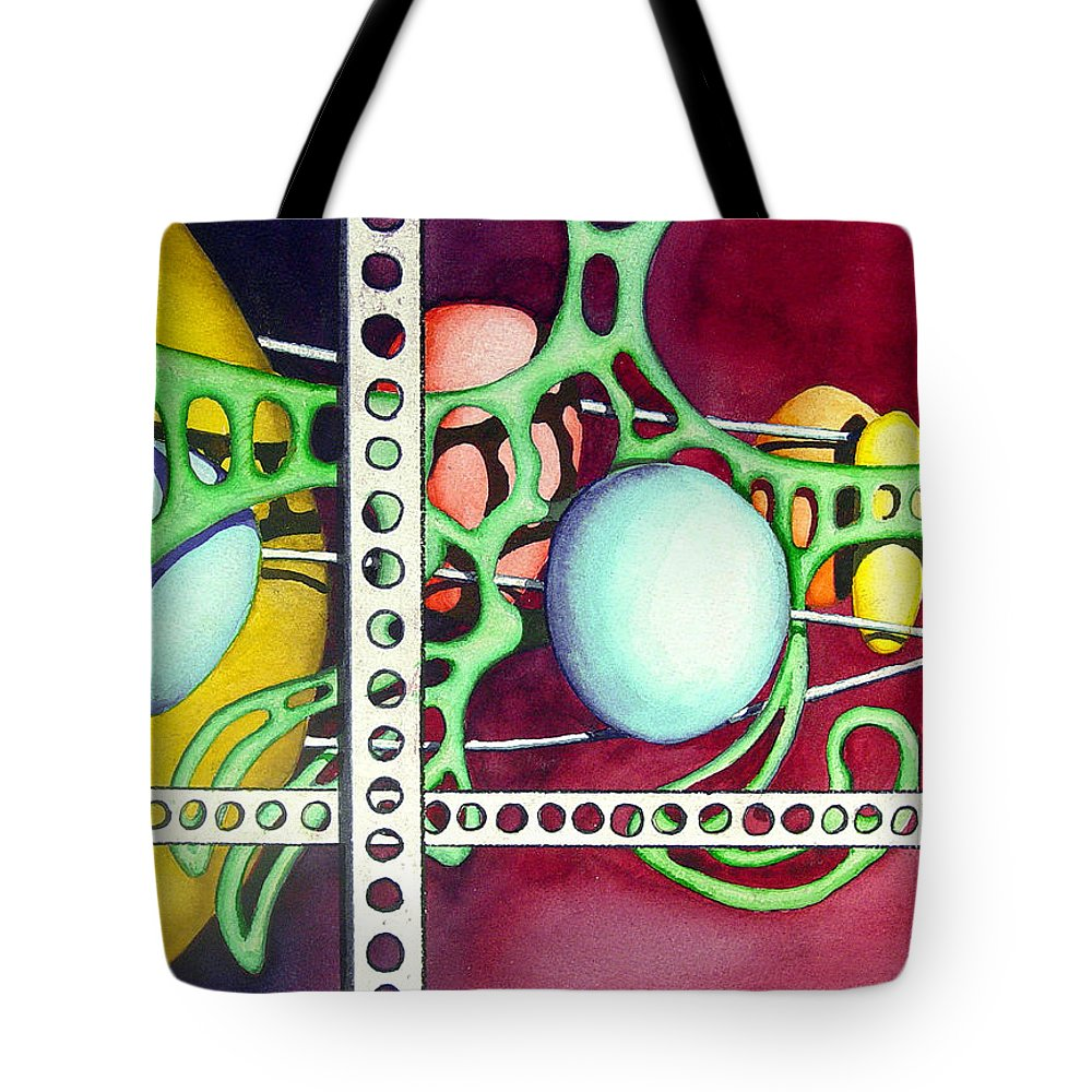 Abstract Tote Bag featuring the painting Untitled - 051129 by Sam Sidders