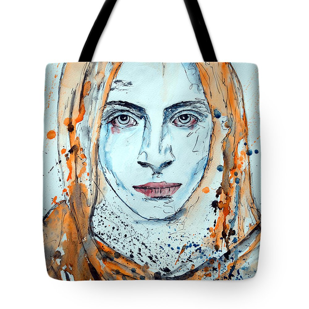 Modern Painting Tote Bag featuring the painting Untitled 10 by Ismeta Gruenwald