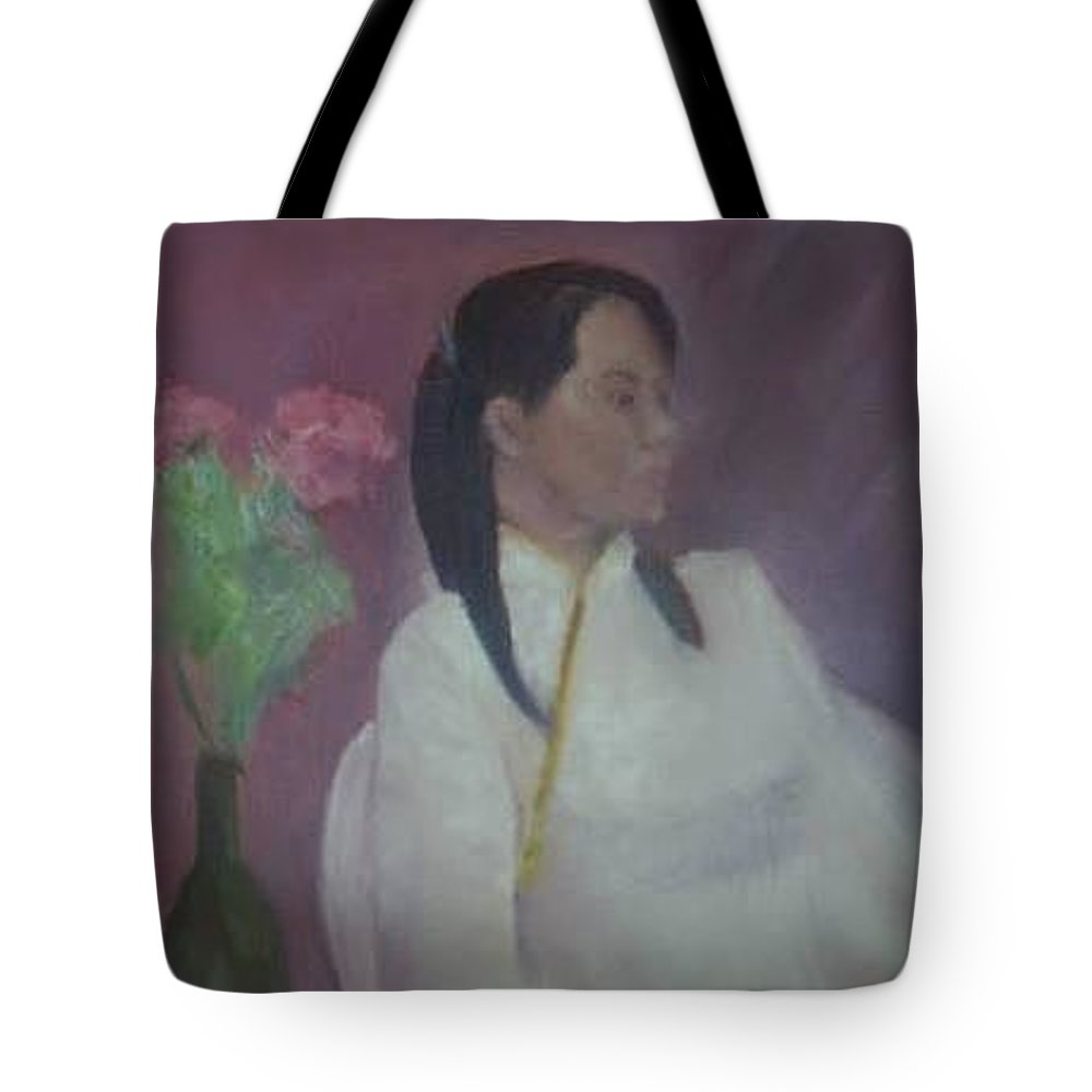Woman Tote Bag featuring the painting Untitled #2 by Sheila Mashaw