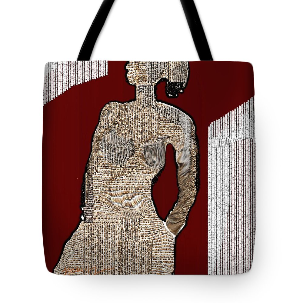 Art Tote Bag featuring the painting Untitled 220 by Nedunseralathan R