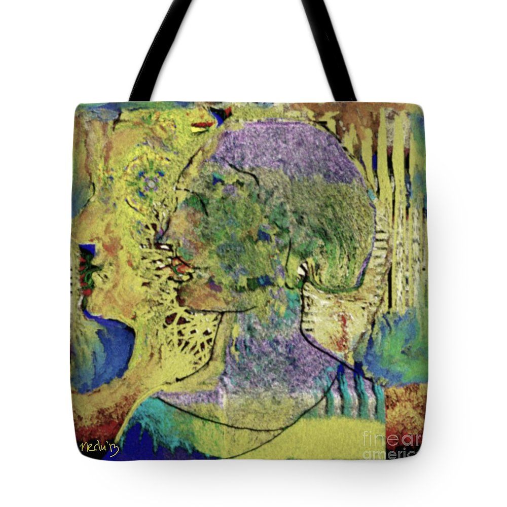 Art Prints Tote Bag featuring the painting Untitled 254 by Nedunseralathan R