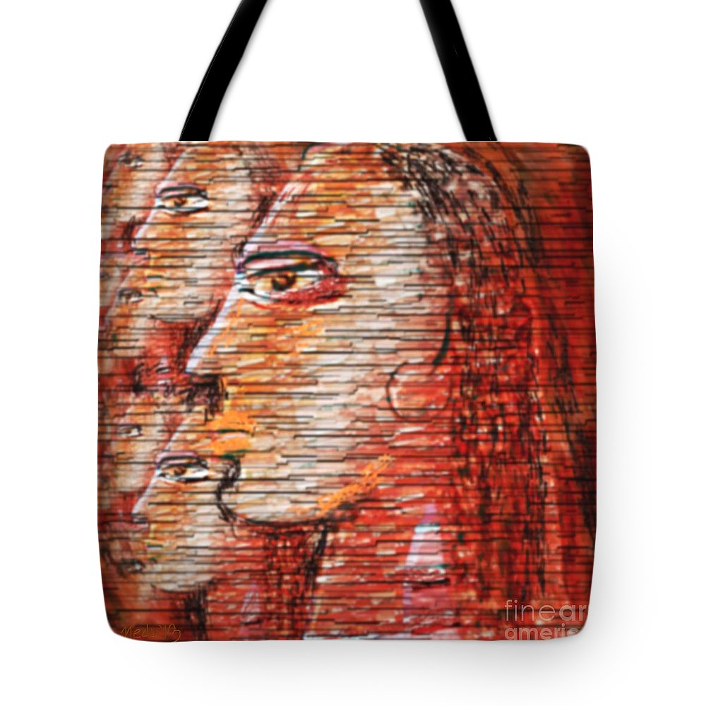 Fine Art Tote Bag featuring the painting Untitled 288 by Nedunseralathan R