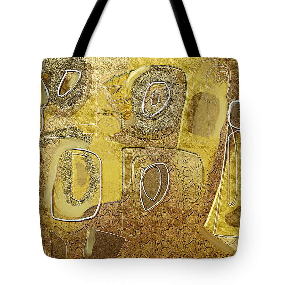 Fine Art Tote Bag featuring the painting Untitled 513 by Nedunseralathan R