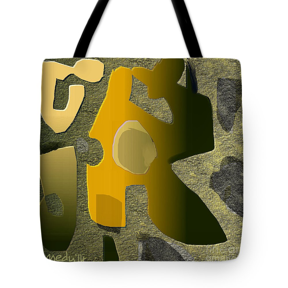 Fine Art Tote Bag featuring the painting Untitled 514 by Nedunseralathan R