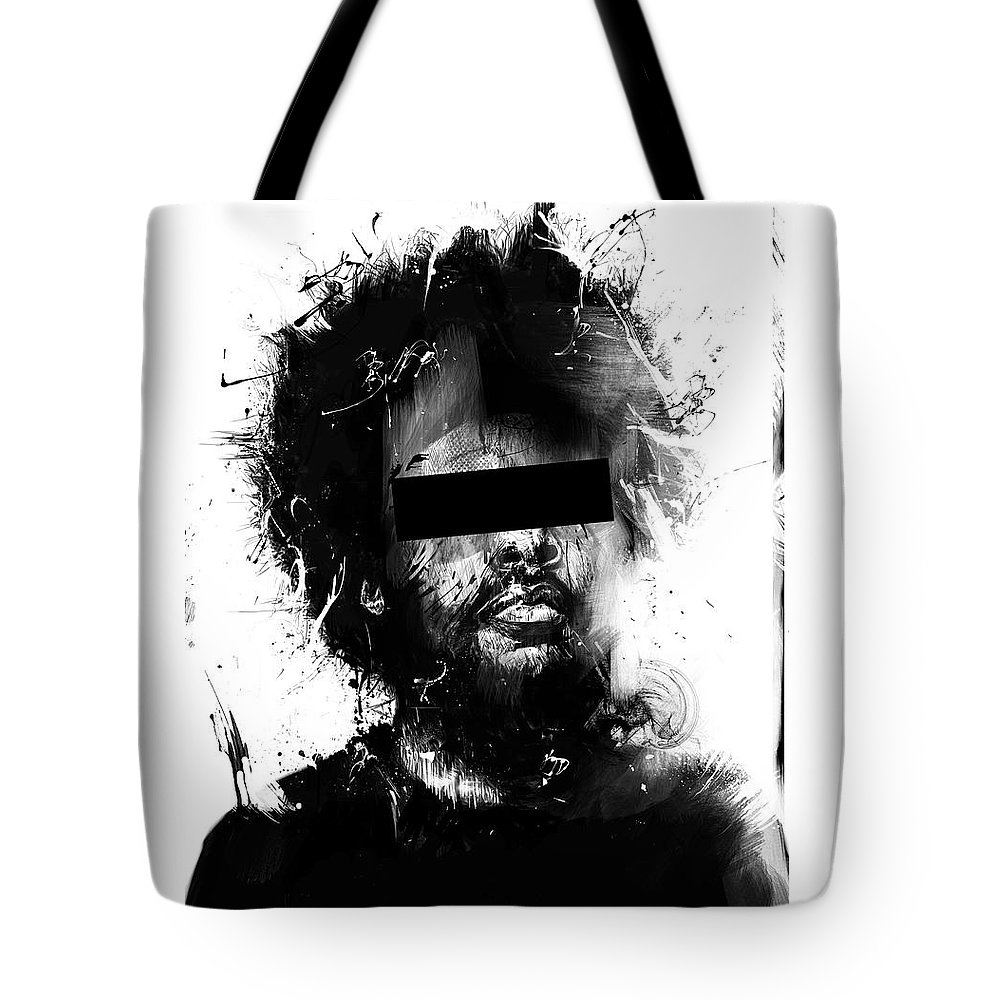 Man Tote Bag featuring the mixed media Untitled by Balazs Solti