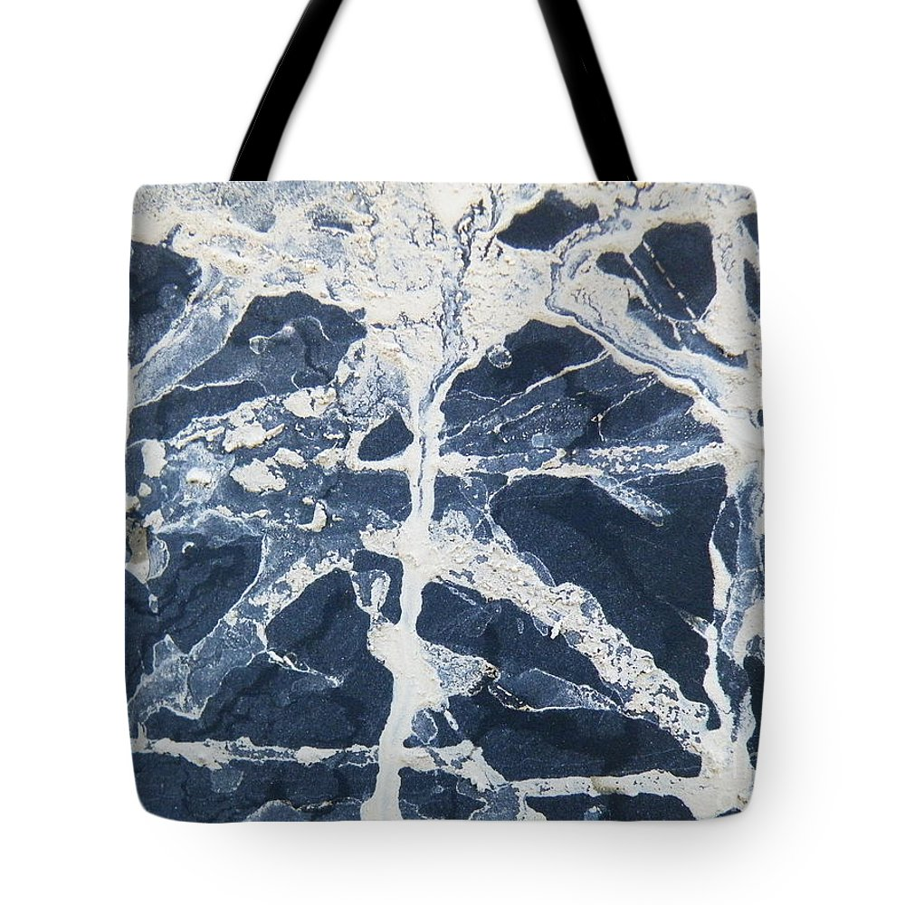 Snowtire Tote Bag featuring the photograph Untitled Clay On Rubber by Brian Boyle