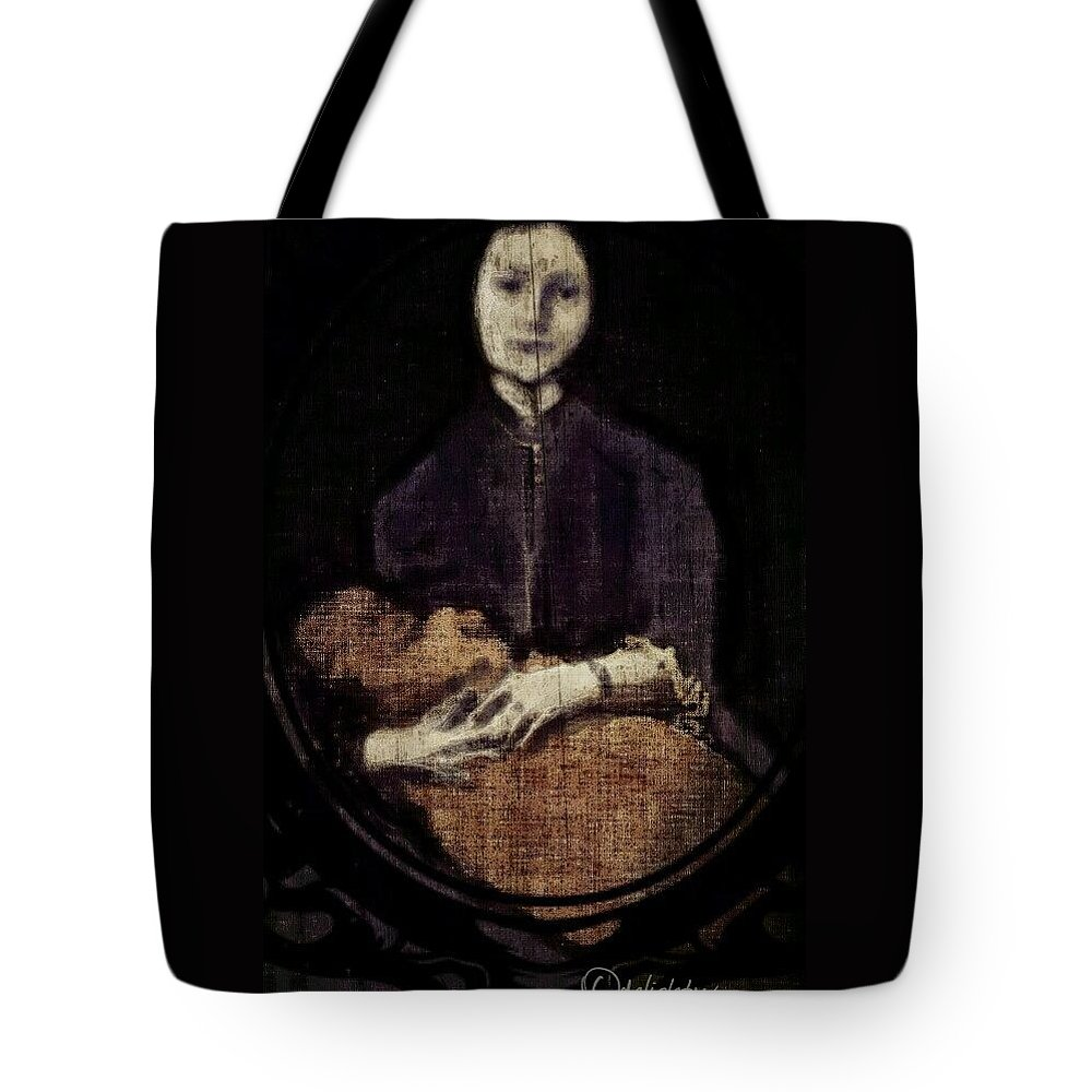Mother And Child Tote Bag featuring the digital art Mother And Child by Delight Worthyn