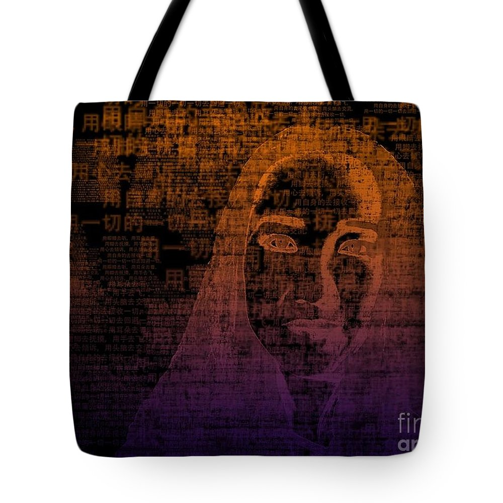 Tote Bag featuring the digital art Untitled by Fei A