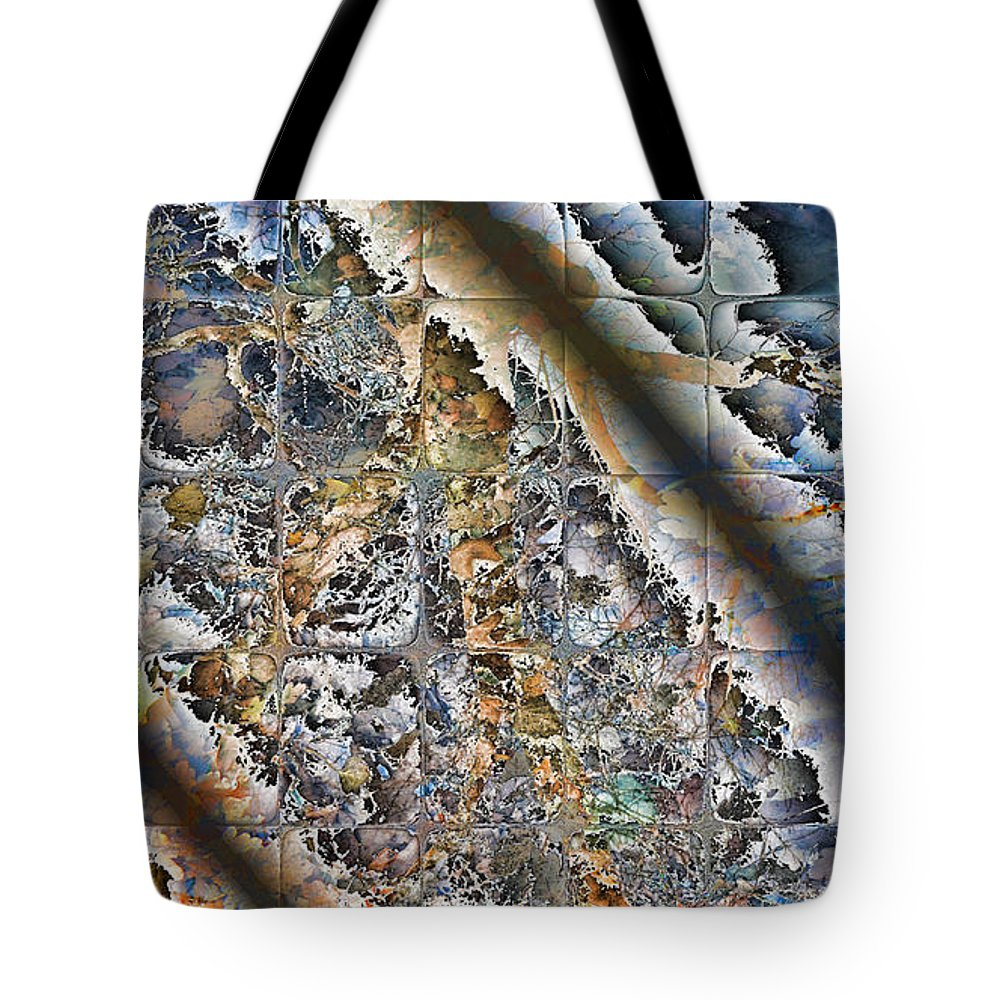 Abstract Tote Bag featuring the digital art Pond Abstract by Jack Bowman