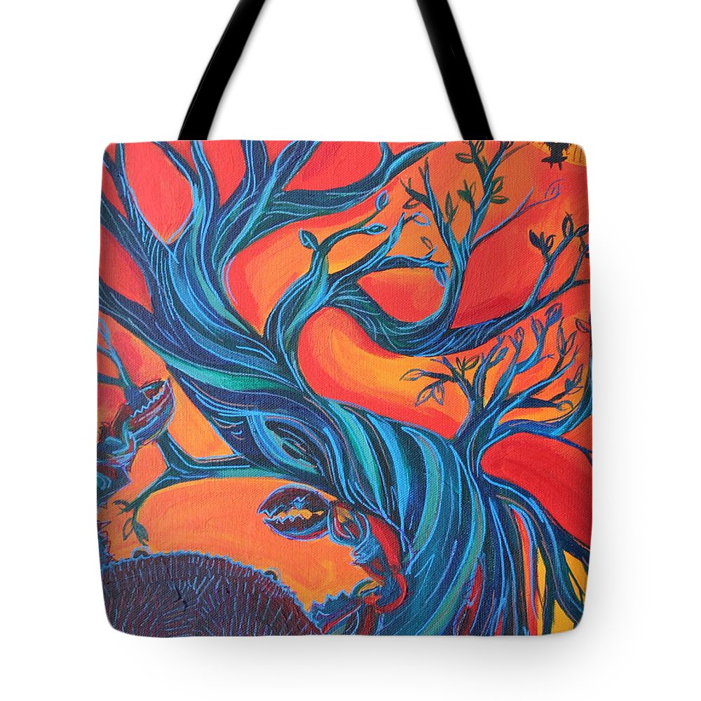 Crab Tote Bag featuring the painting Untitled by Kate Fortin