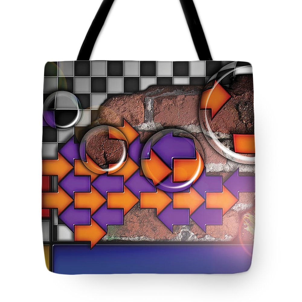 Abstract Tote Bag featuring the digital art Untitled No. 1, 2008 by James Kramer