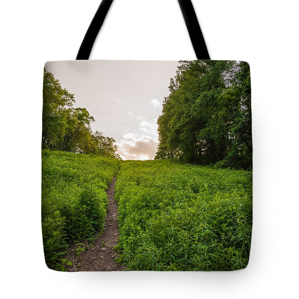 Pennsylvania Tote Bag featuring the photograph Up Hill by Kristopher Schoenleber