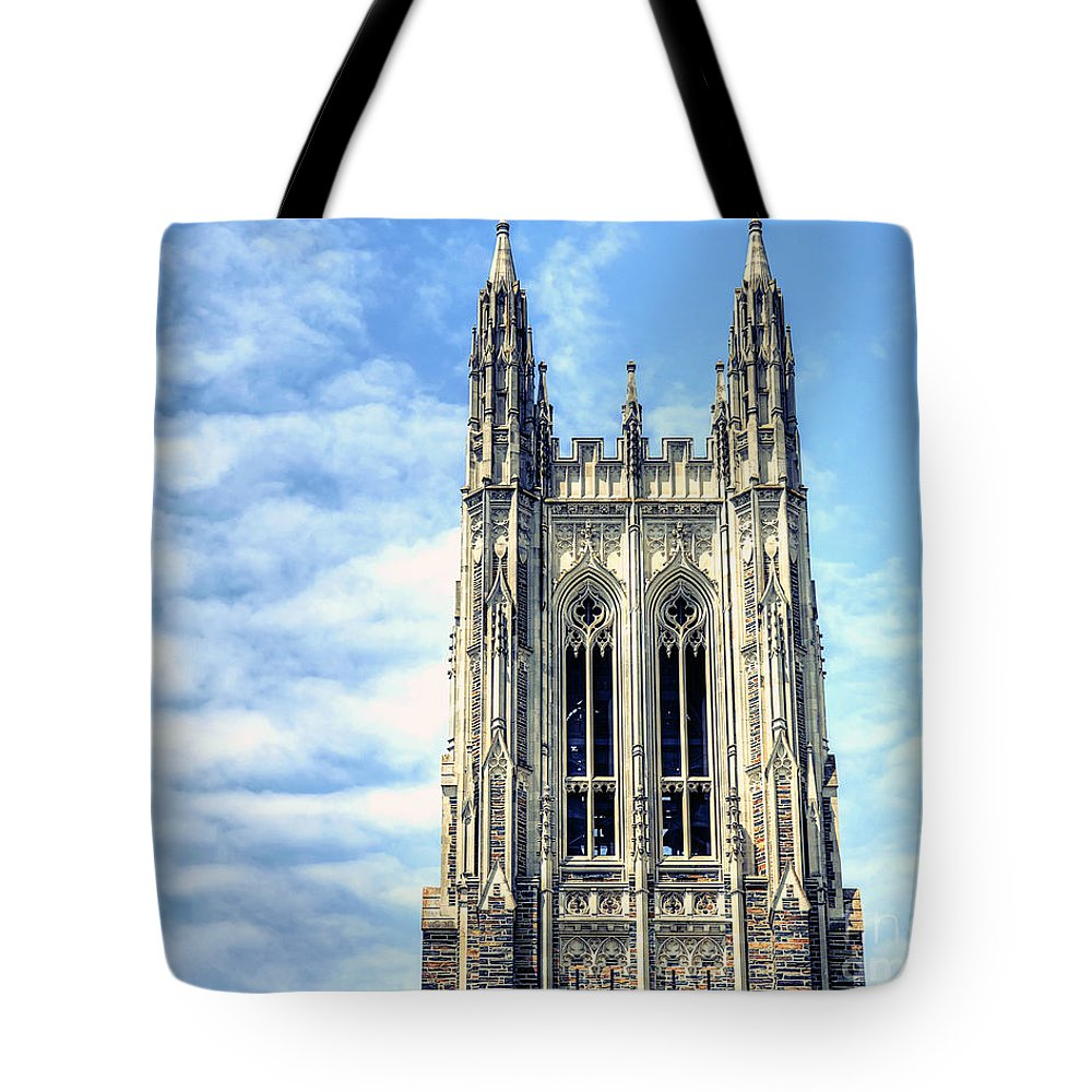 Duke Chapel Tote Bag featuring the photograph Up In The Sky by Emily Kay