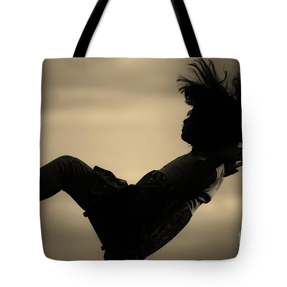 Black Tote Bag featuring the photograph Up by Jessica Shelton