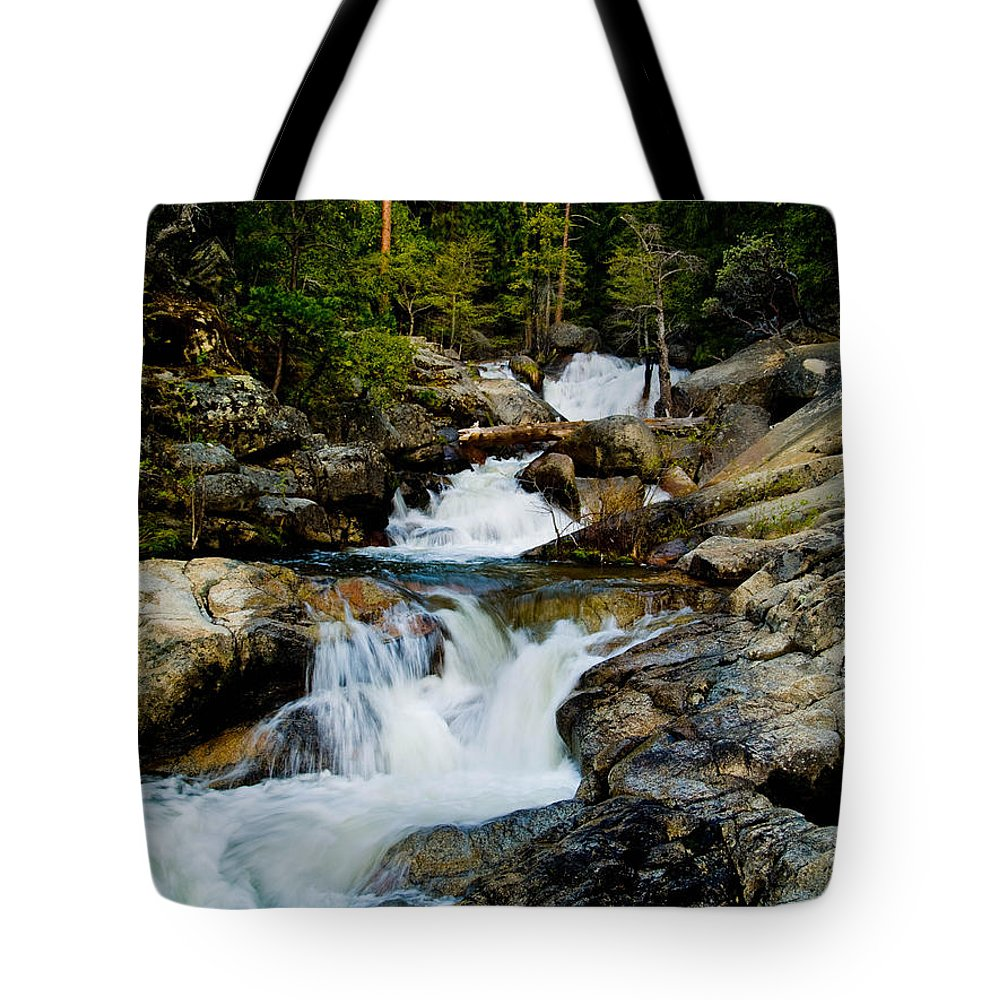 Cascade Creek Tote Bag featuring the photograph Up The Creek by Bill Gallagher