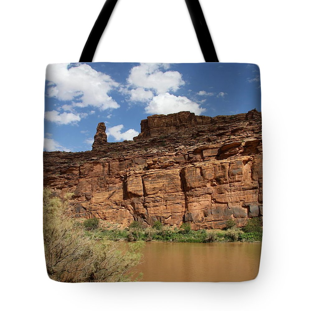 State Route Tote Bag featuring the photograph Upper Colorado River View by Christiane Schulze Art And Photography