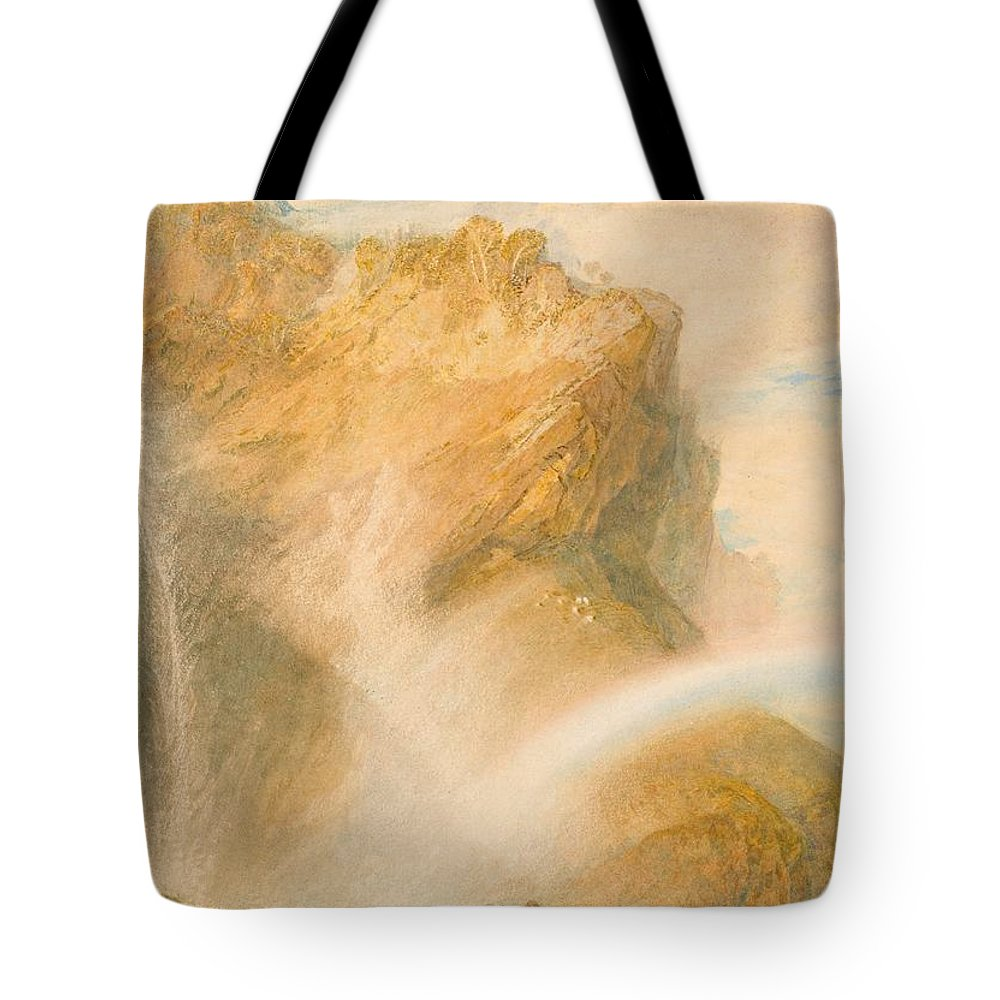 1810 Tote Bag featuring the painting Upper Fall Of The Reichenbach - Rainbow by JMW Turner