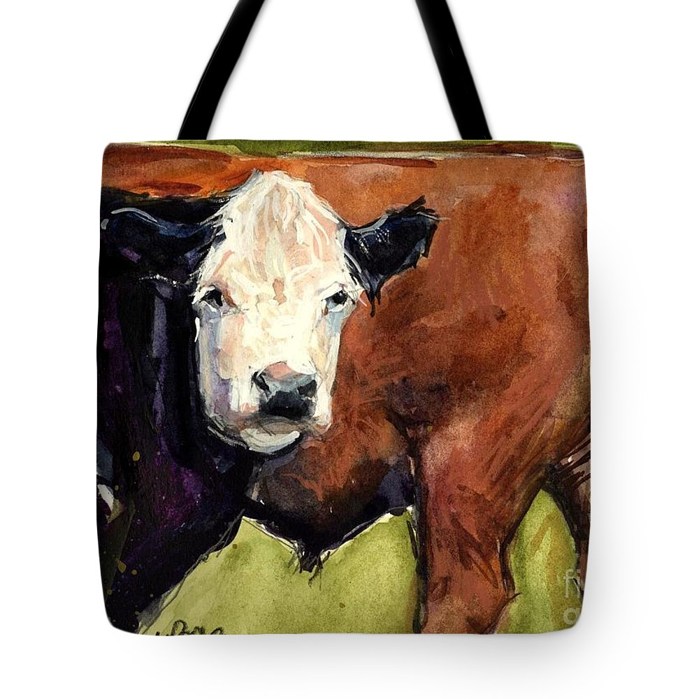 Cows Tote Bag featuring the painting Upper Field by Molly Poole