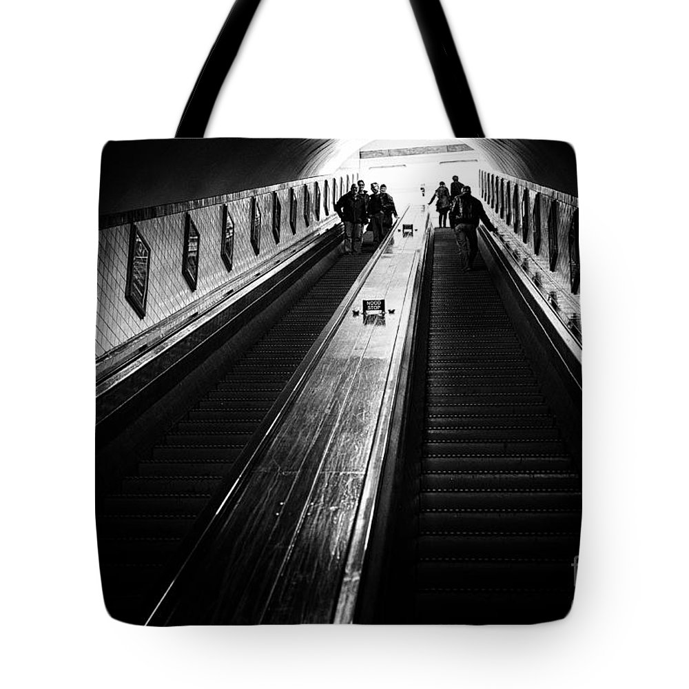 Tunnel Elevator Tote Bag featuring the photograph Uppers And Downers by Brothers Beerens