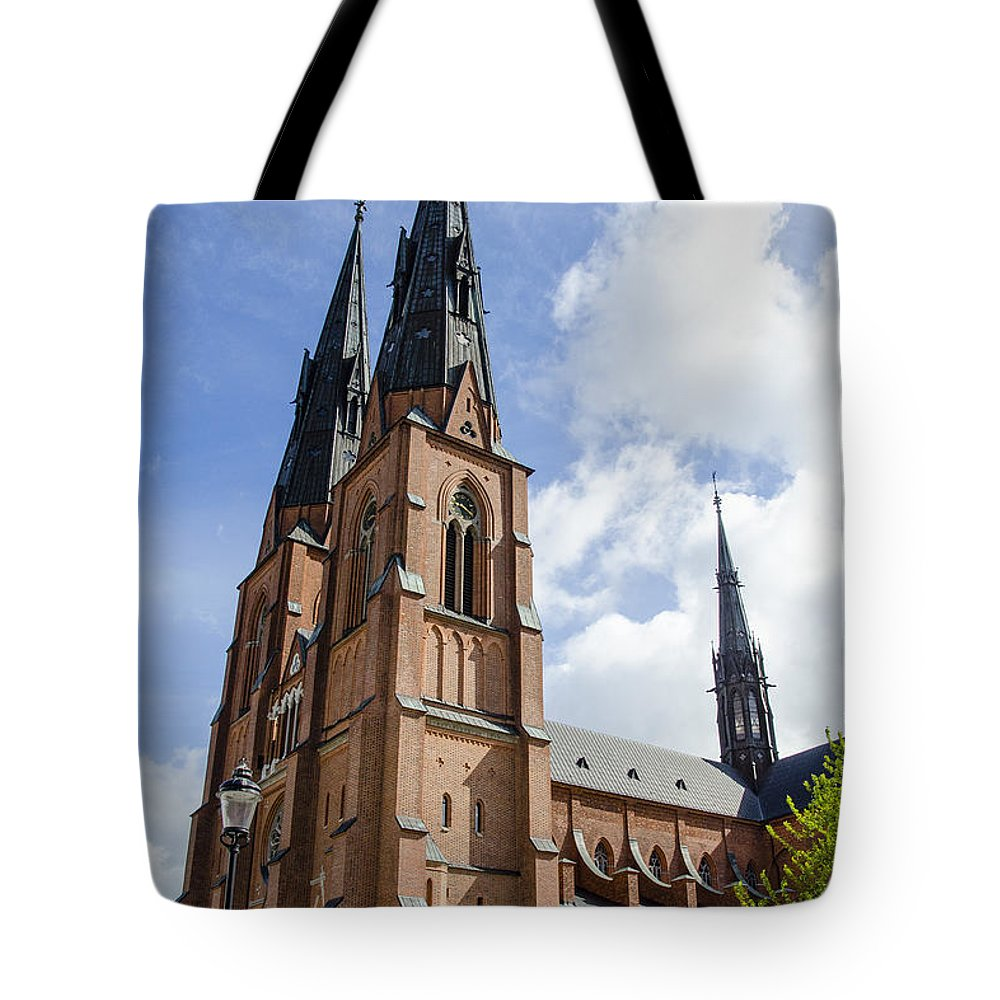 Botany Tote Bag featuring the photograph Uppsala Cathedral - Sweden by Jon Berghoff