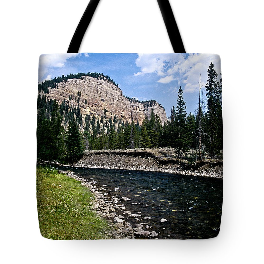 Landscape Tote Bag featuring the photograph Upriver In Washake Wilderness by Kathy McClure