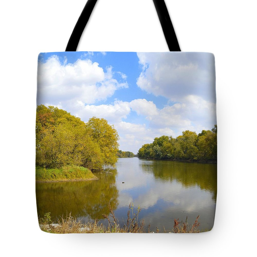Environment Tote Bag featuring the photograph Upstream by Bonfire Photography