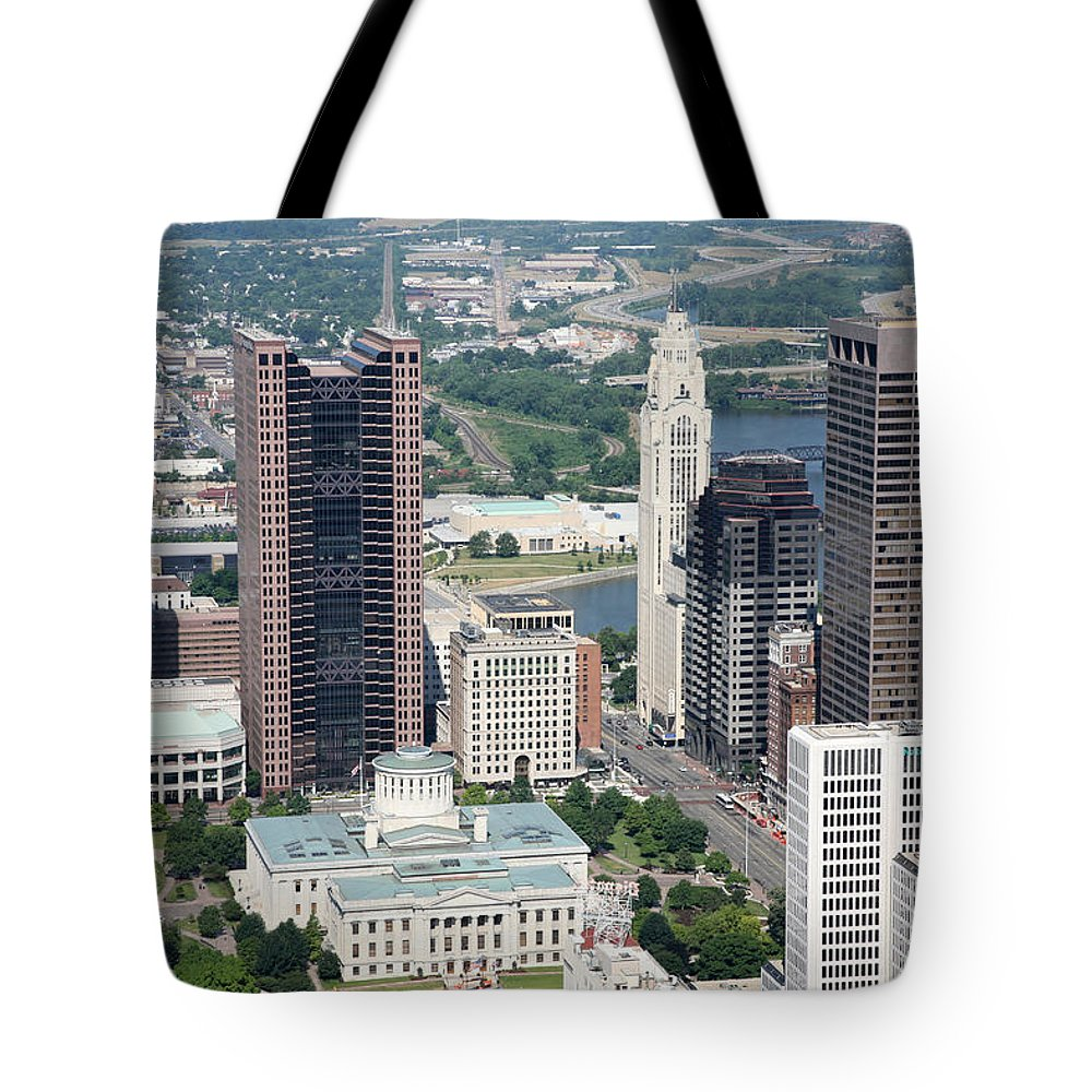 Columbus Tote Bag featuring the photograph Uptown District by Bill Cobb
