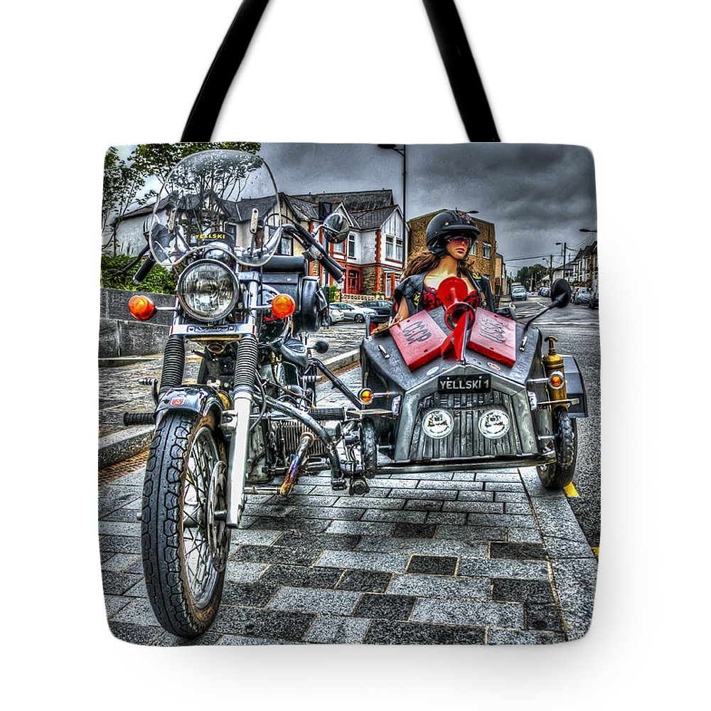 Ural Wolf 750 And Sidecar Tote Bag featuring the photograph Ural Wolf 750 And Sidecar by Steve Purnell