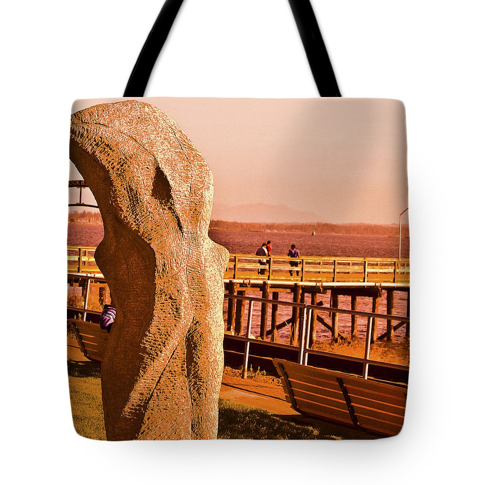 Sculpture Tote Bag featuring the photograph Urban Abstract Sculpture by David Fabian