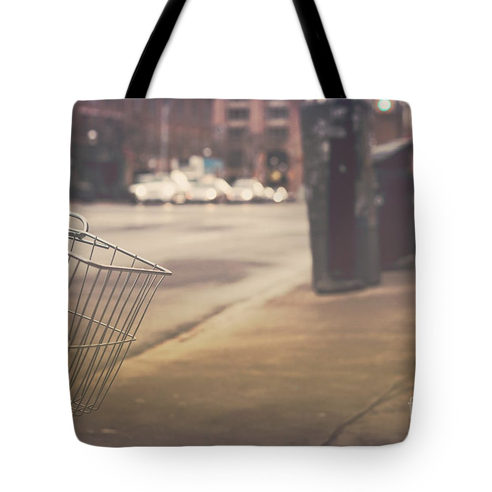 Bicycle Tote Bag featuring the photograph Urban Bicycle by Mary Smyth