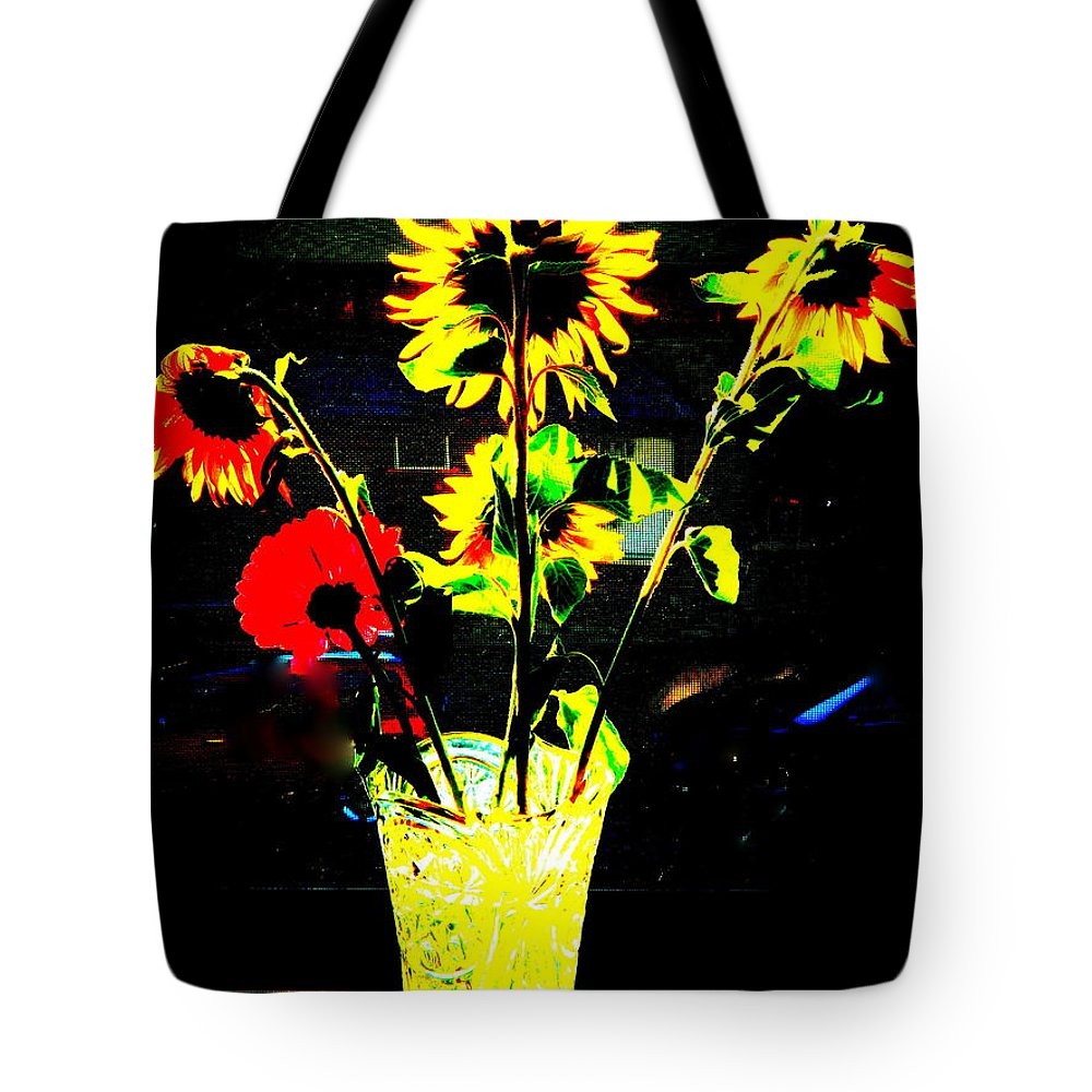 Flowers Tote Bag featuring the photograph Urban Garden by Kathy Barney