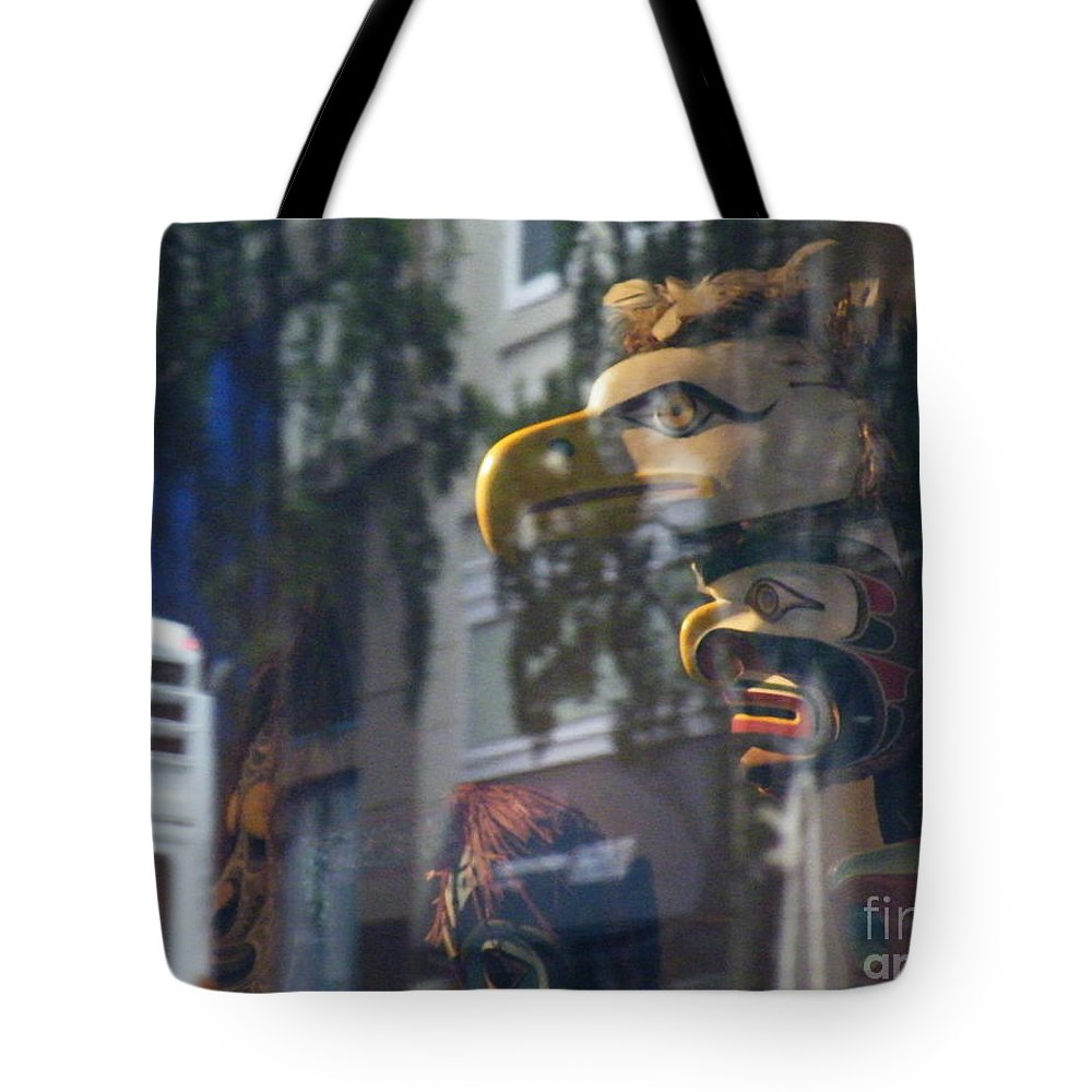 Urban Tote Bag featuring the photograph Urban Indian Symbolism by Brian Boyle