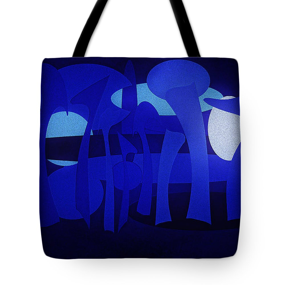 Abstract Tote Bag featuring the digital art Urban Jungle by Ramon Martinez