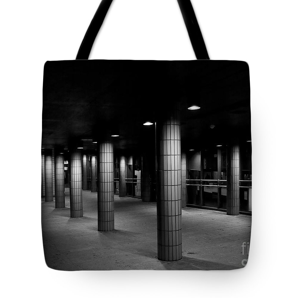 Festblues Tote Bag featuring the photograph Urban Silence.. by Nina Stavlund