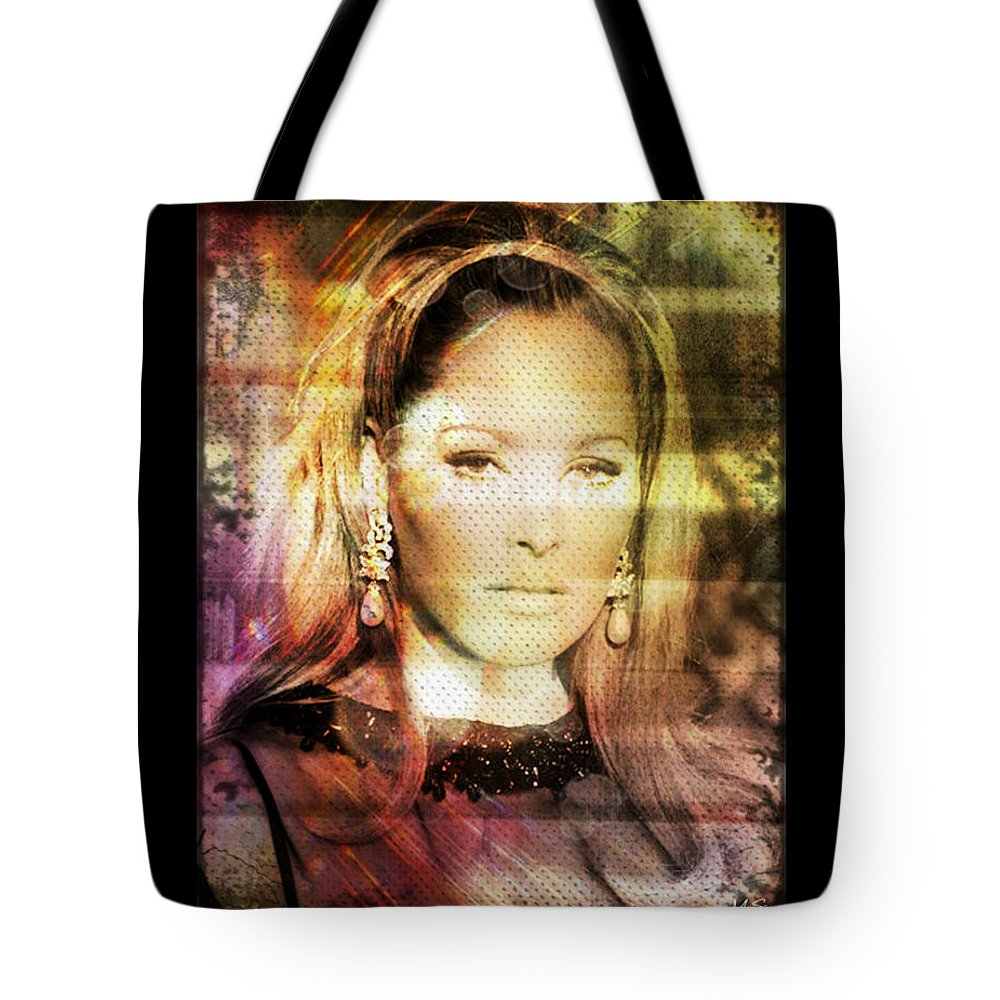 Ursula Andress Tote Bag featuring the digital art Ursula Andress by Absinthe Art By Michelle LeAnn Scott