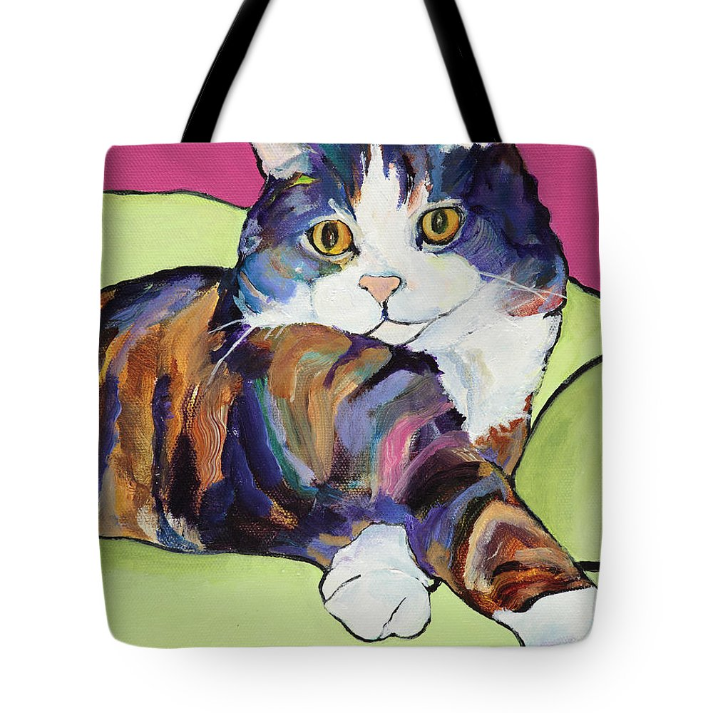 Pat Saunders-white Canvas Prints Tote Bag featuring the painting Ursula by Pat Saunders-White