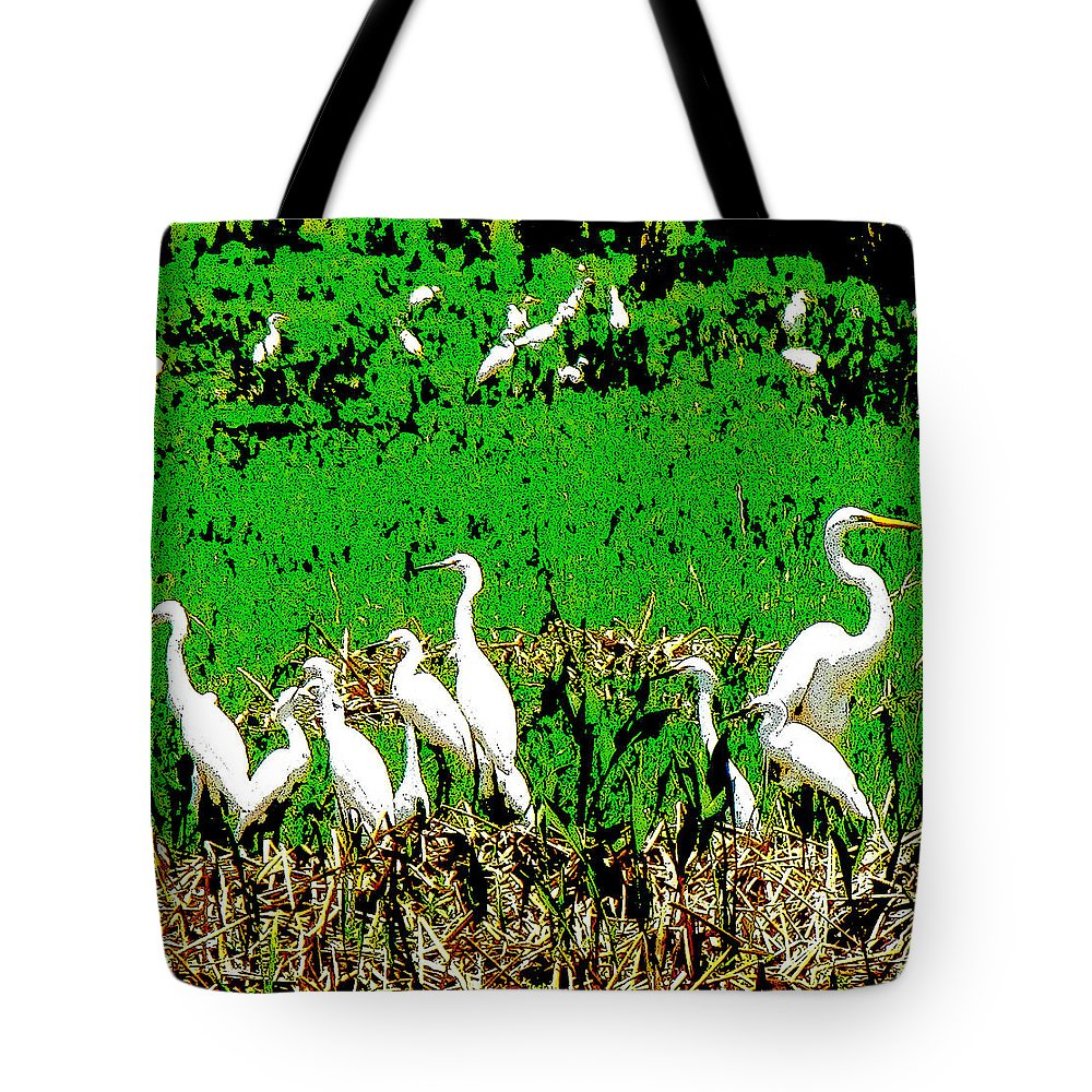 Ron Tackett Photography Tote Bag featuring the photograph Us And Them by Ron Tackett