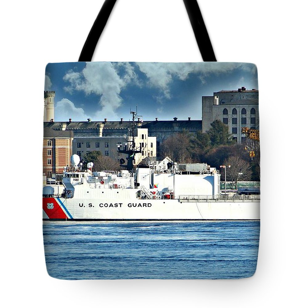 Ship Tote Bag featuring the photograph Us Coast Guard by Barbara S Nickerson