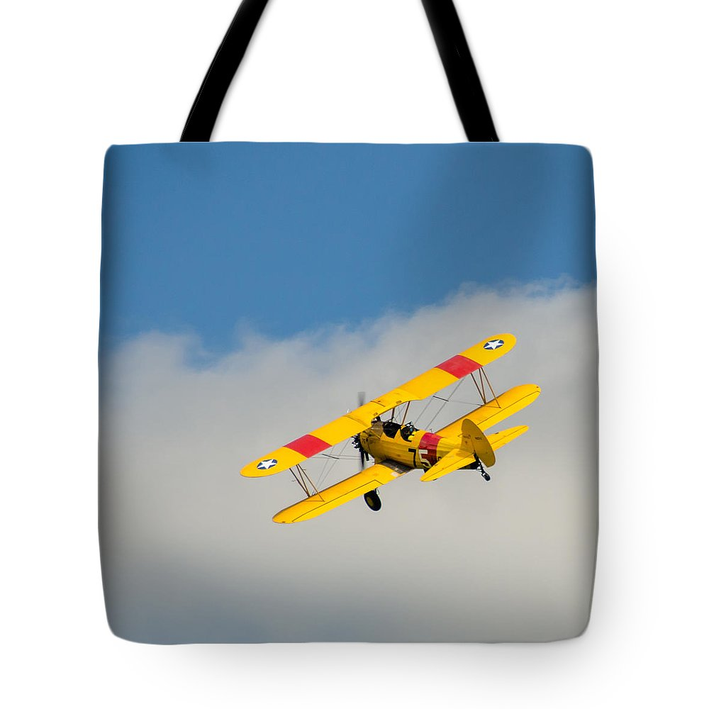 Aviation Tote Bag featuring the photograph Us Navy N2s-5 by Guy Whiteley