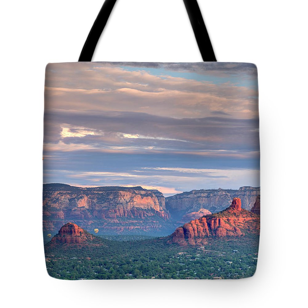 Scenics Tote Bag featuring the photograph Usa, Arizona, Sedona by Michele Falzone