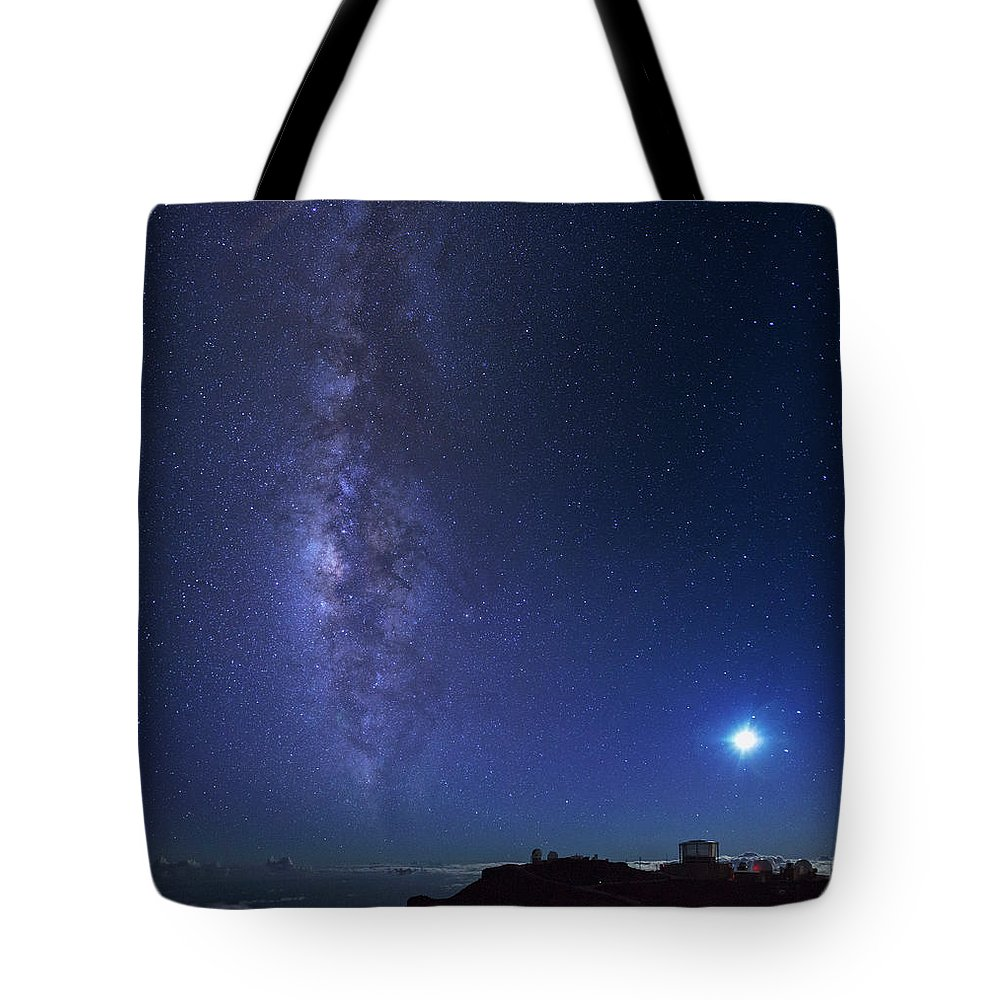 Tranquility Tote Bag featuring the photograph Usa, Hawaii, Maui, Milky Way by Michele Falzone